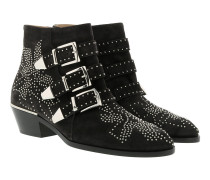 Susanna Boots Suede Night Black Schuhe