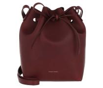 Beuteltasche Mini Bucket Bag Bordo rot
