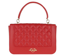 Quilted Crossbody Bag Red Satchel Bag