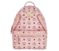 Dual Stark Backpack/Pouchette Visetos Soft Pink Rucksack gold