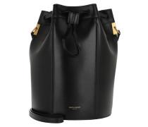Beuteltasche Talitha Medium Bucket Bag Smooth Leather Black schwarz