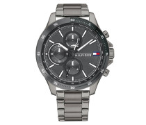 Uhr Men Multifunctional Watch Bank Grey