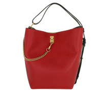 GV3 Tote Leather Red Hobo Bag