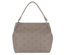 Klara Monogrammed Hobo Medium Urban Taupe Bag