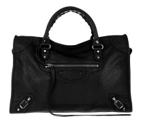 Giant City Metal Leather Black Tote