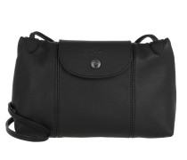Umhängetasche Le Pliage Crossbody Bag Leather Black schwarz