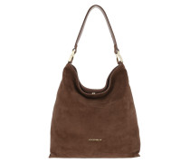 Arlettis Suede Hobo Bag Marron Glace Hobo Bag
