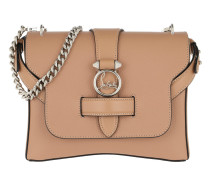 Rubylou Small Calf Leather Nude Satchel Bag