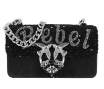 Mini Love Rebel Heart Crossbody Bag Nero Limousine Tasche