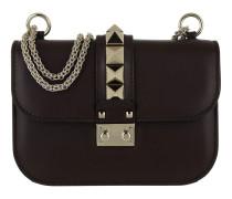 Rockstud Small Leather Shoulder Bag Deep Rubin Tasche