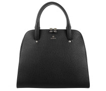 Ivy M Leather Handbag Black Tote
