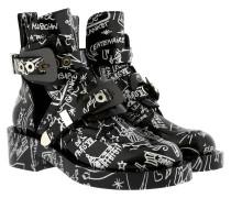 Ceinture Ankle Boots Scribble Black Schuhe