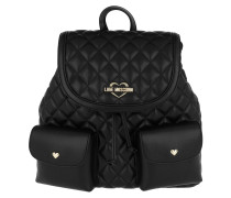 Quilted Nappa Backpack 2 Oro/Nero Rucksack