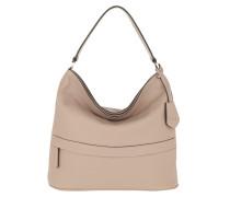 Hobo Bag Calf Adria Zip Hobo Bag Coconut beige