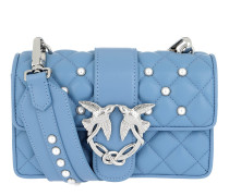 Mini Love Pearls Shoulder Bag Azzurro Tasche