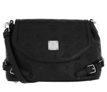 Umhängetasche Essential Mini Leather Crossbody Small Black schwarz