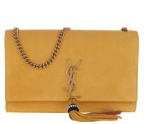 Kate Tassel Medium Shoulder Bag Suede Yellow Tasche
