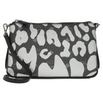 Millie MCM Leopard Print Crossbody Medium Black Tasche