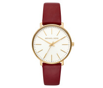 Uhr MK2749 Pyper Ladies Leathers Watch Gold rot