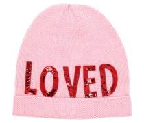 Wool Hat Sequin Loved Pink Schal