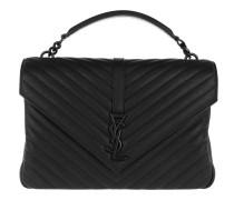 College Monogramme Shoulder Bag Black Satchel Bag