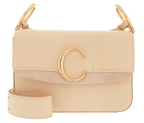 Umhängetasche Double Carry Small Shoulder Bag Leather Blondie Beige beige
