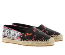 Printed Canvas Espadrilles Black
