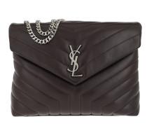 LouLou Chain Bag Medium Black Tulip Satchel Bag