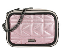 K/Kuilted Pink Camera Bag Metallic Pink Tasche pink
