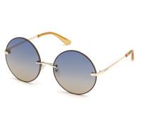 Sonnenbrille Women Sunglasses Metal GU7643 Gold/Blue