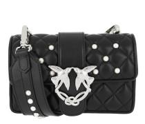 Mini Love Pearls Shoulder Bag Nero Satchel Bag