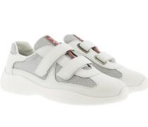 Sneakers Velcro Sneakers Bianco/Argento weiß