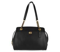 Tote Refined Calf Leather Parker Handle Bag Black schwarz