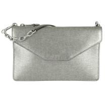 Erika Saffiano Crossbody Small Antique Silver Tasche