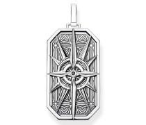 Halskette Pendant Compass Star Black