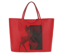 Bambi Print Tote Red Umhängetasche rot