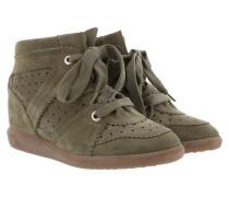 Bobby Sneakers Velvet Stainer Basket Taupe Sneakers