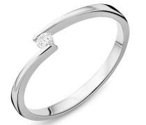 Ring 0.05ct Diamond 14KT White Gold
