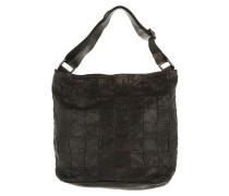 Monospalla Patchwork Bucket Bag Grigio Beuteltasche