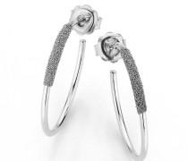 Ohrringe Earrings 18K Diamond Dust Grey 750 White Gold