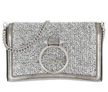 Roubylou Logo Clutch Leather Silver Clutch