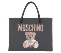 Teddy Printed Shoulder Bag Black