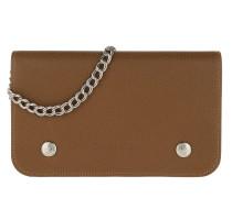 Umhängetasche Le Foulonné Wallet On Chain Leather Cognac cognac