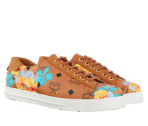 Sneakers W Flower Printed Sneakers Cognac cognac