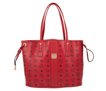 Liz Reversible Shopper Medium Ruby Red