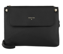 Movable Strap Crossbody Bag Nero/Natural Beige Tasche