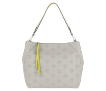 Klara Mini Leather Hobo Medium Dove Hobo Bag