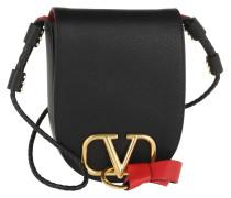 Umhängetasche V Ring Saddle Bag Nero schwarz