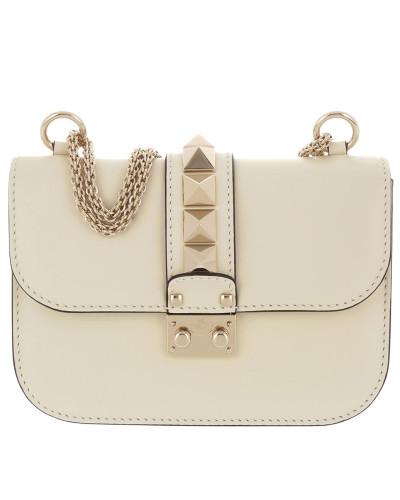 Rockstud Lock Shoulder Bag Small Pastel Yellow Tasche