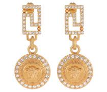 Schmuck Medusa Earring Crystal/Oro gold